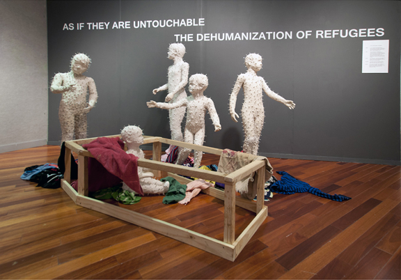 as if they are untouchable; installation